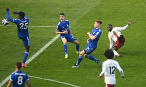 Ndidi gives away a penalty.