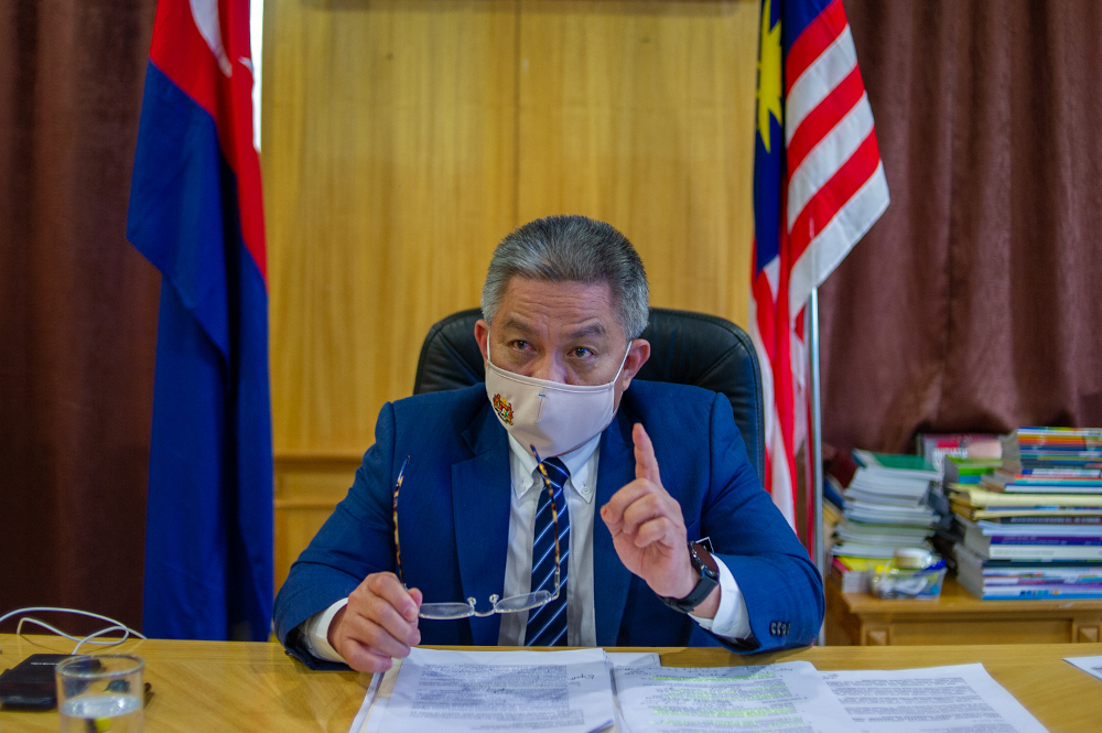 Health Minister Datuk Seri Dr Adham Baba said of the total, 4,531,550 individuals or 13.9 per cent of the country's population completed the second dose, while another 9,815,735, received the first dose. — Picture by Shafwan Zaidon