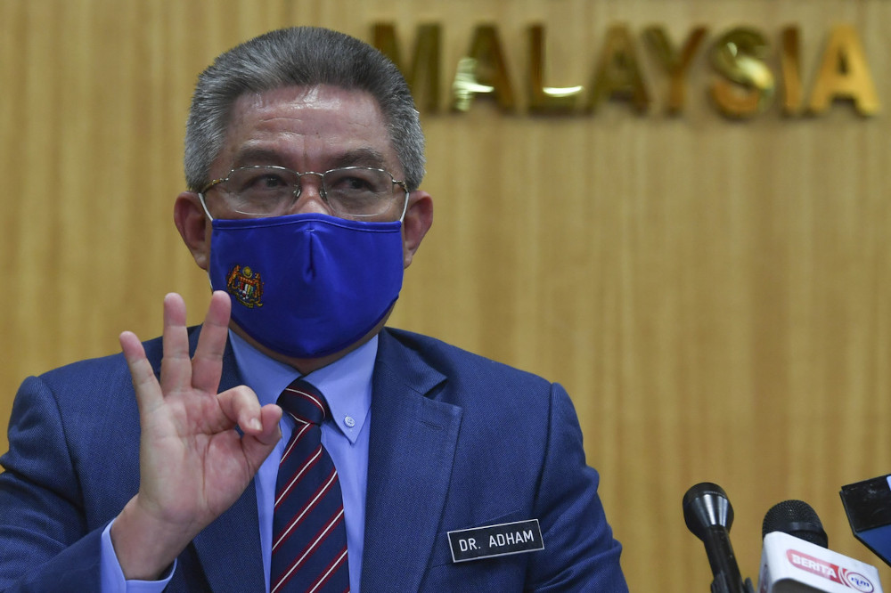 Health Minister Datuk Seri Dr Adham Baba says a total of 495,750 individuals have received both doses of their Covid-19 vaccine under the National Covid-19 Immunisation Programme as of yesterday. — Bernama pic