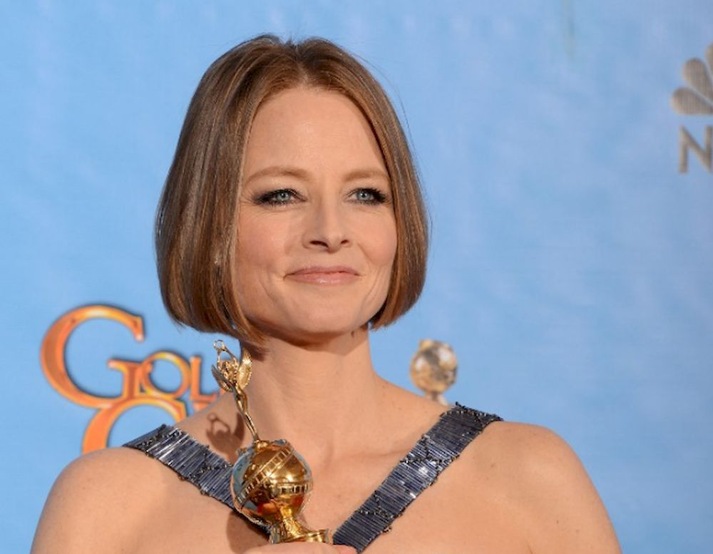 In this file photo taken on January 13, 2013 actress Jodie Foster poses with Cecil B. DeMille Award in the press room during the 70th Annual Golden Globe Awards held at The Beverly Hilton Hotel in Beverly Hills, California. — AFP pic