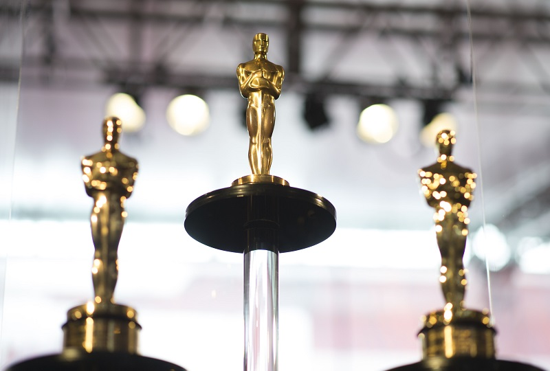 Oscars statuettes stand on display during a preview for the Governors Ball during the 90th annual Academy Awards week in Hollywood, California March 1, 2018. — AFP pic