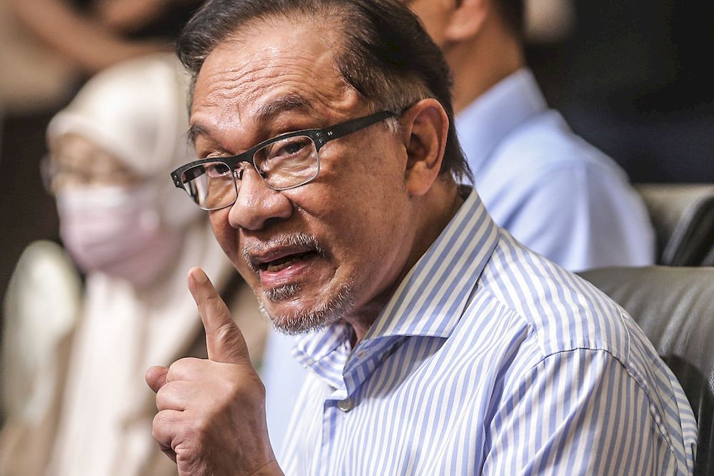 In a Facebook post today, Datuk Seri Anwar Ibrahim said that the time and place of when Syed Saddiq Abdul Rahman was charged is baffling, and is a sign of the extent of which the Perikatan Nasional (PN) government is abusing its powers. ― Picture by Hari Anggara