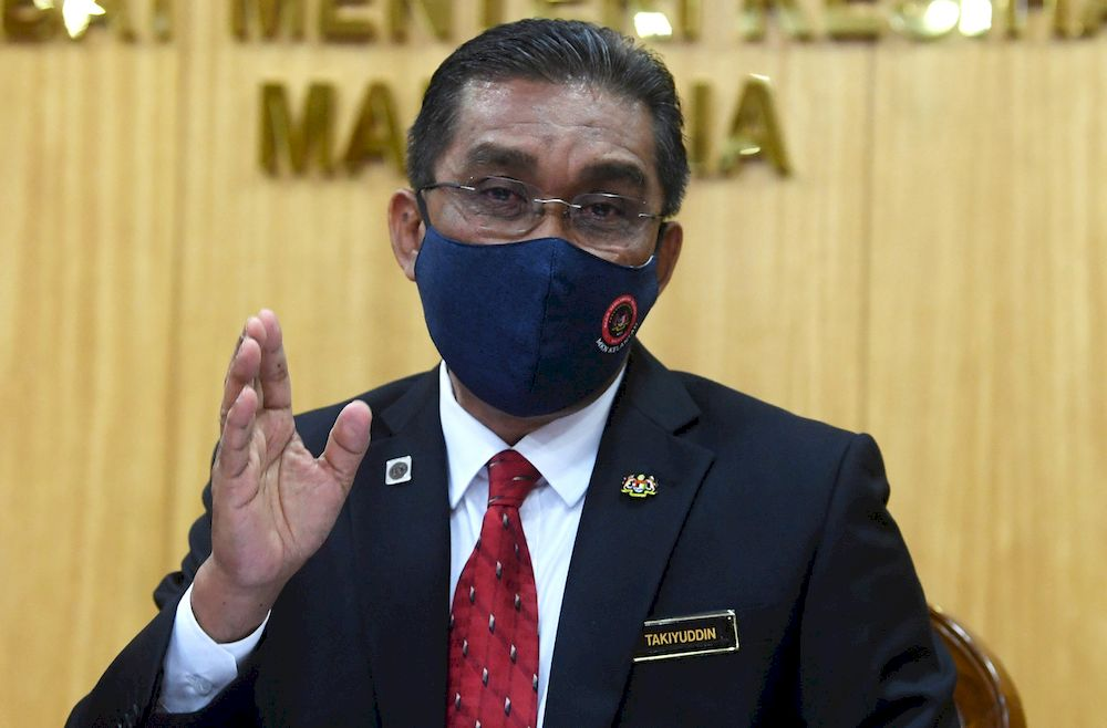 Minister in the Prime Minister's Department Datuk Seri Takiyuddin Hassan said that the Agong did not explicitly mention a date for when Parliament should reopen again. — Bernama file pic