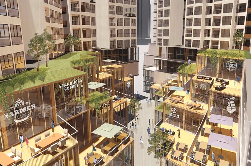 team ace, nus, international building design competition 2020, built environment, orchard hills project, commercial terraces