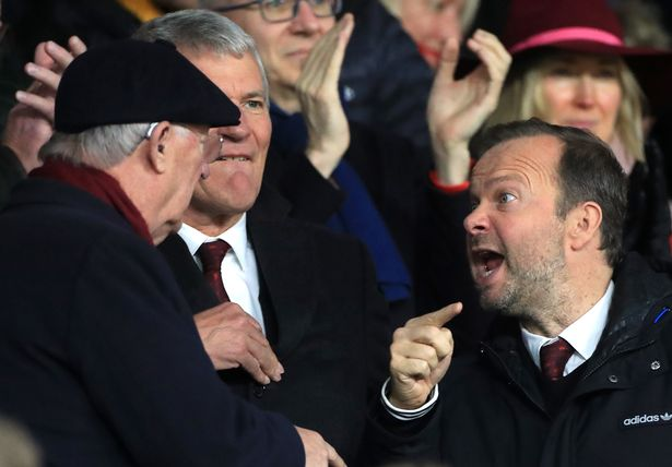 Ed Woodward and Sir Alex Ferguson appeared to argue in the stands in a game against Sheffield United