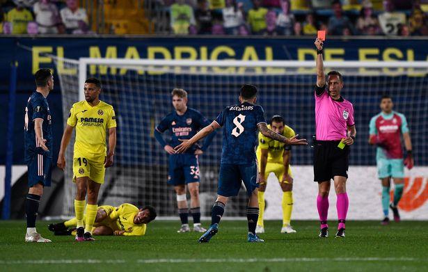 Dani Ceballos was dismissed in the second-half