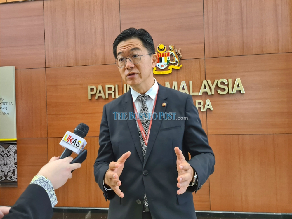 Senator Robert Lau said Datuk Seri Wong Soon Koh was barking up the wrong tree. — Borneo Post pic