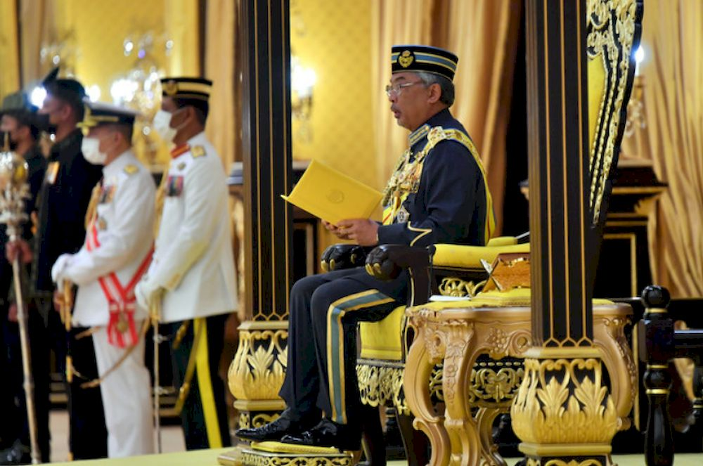 Yang di-Pertuan Agong Al-Sultan Abdullah Ri'ayatuddin Al-Mustafa Billah Shah has granted an audience to the presidents of Gabungan Parti Sarawak (GPS) component parties next Monday. ― Bernama pic
