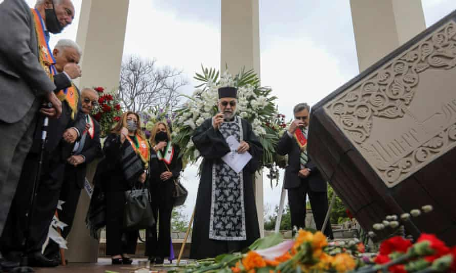 A gathering in remembrance of the 1915 genocide at the Armenian Martyrs Monument in Montebello, California, on Saturday.
