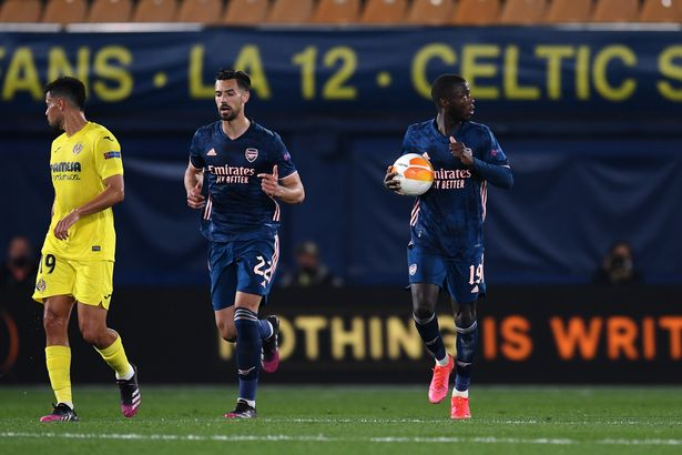 Nicolas Pepe grabbed an away goal for Arsenal
