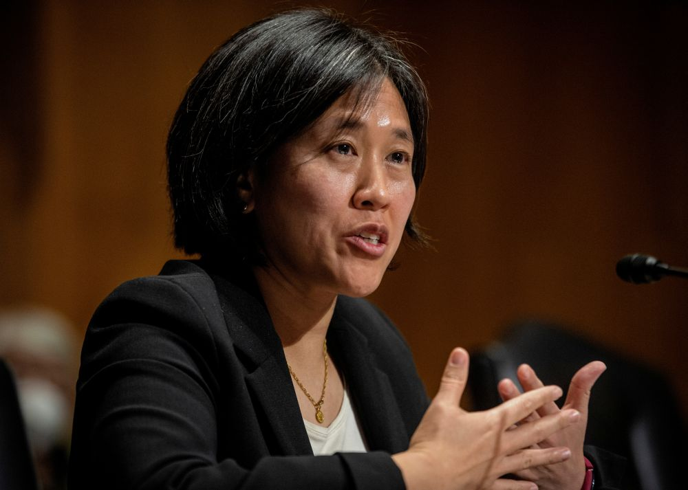 US Trade Representative Katherine Tai is seen in Washington, DC February 25, 2021. — Reuters pic