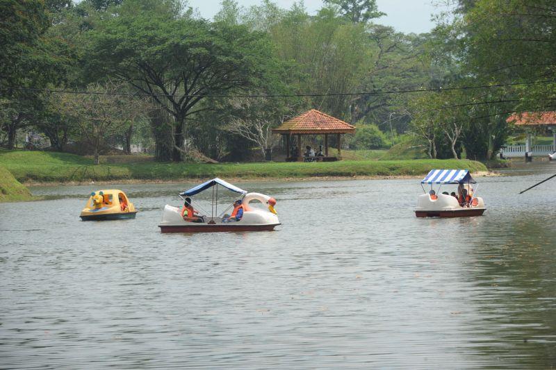 People enjoying themselves at the Taiping Lake Gardens. — Bernama pic
