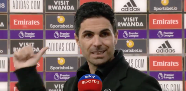 Arteta was visibly frustrated by the nature of his side's defeat