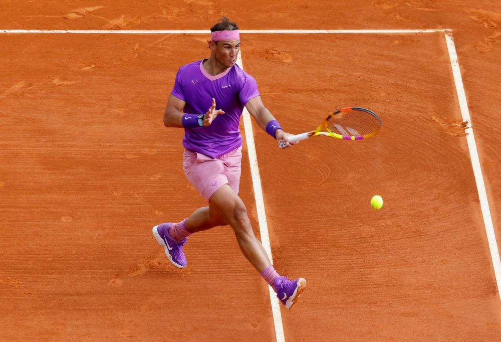 Spain's Rafael Nadal in action during his second round match against Argentina's Federico Delbonis at the Monte-Carlo Country Club April 15, 2021. — Reuters pic