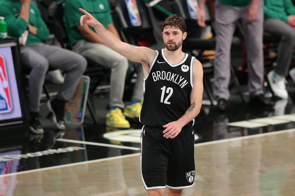 Brooklyn Nets small forward Joe Harris (12) reacts during the fourth quarter against the Boston Celtics at Barclays Center. ― Brad Penner-USA TODAY Sports pic via Reuters
