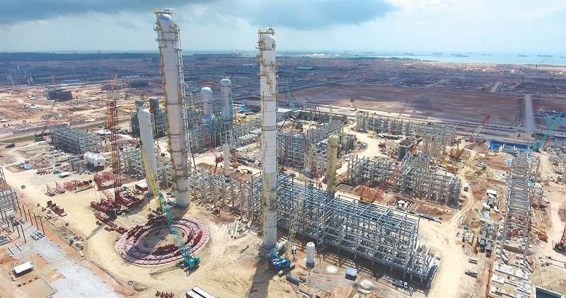 File picture of the Pengerang Integrated Petroleum Complex during construction. — Picture by Malay Mail