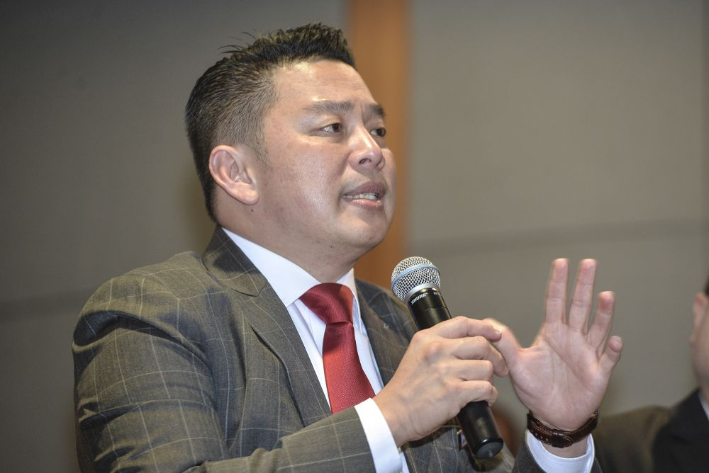 Datuk Darell Leiking said the state authorities are better placed to decide which companies operating locally are in 'essential' services and sectors to continue their operations compared to the federal headquarters which has to deal with a flood of applications from all over the country. — Picture by Shafwan Zaidon