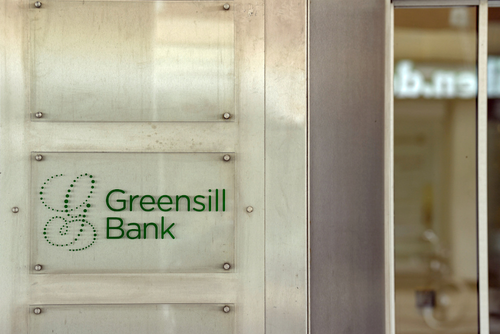 Logo of Greensill Bank is pictured in downtown Bremen March 10, 2021. — Reuters pic
