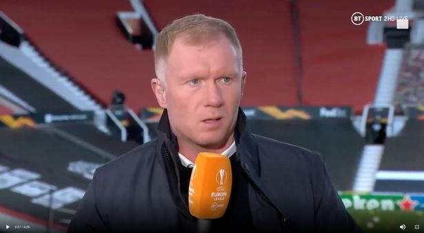 Paul Scholes revealed his belief that Mason Greenwood should be played on the wing