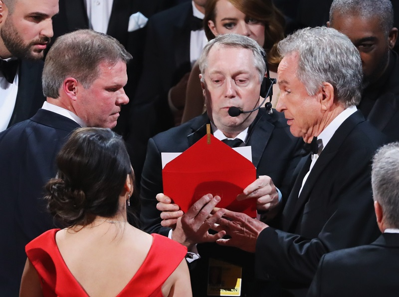 Warren Beatty looks on during presentation for Best Picture at the 89th Academy Awards in Hollywood, California February 27, 2017. — Reuters pic
