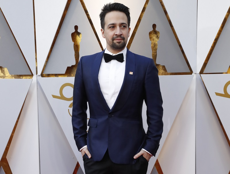 Lin-Manuel Miranda arrives for the 90th Academy Awards in Hollywood, California, March 4, 2018. — Reuters pic