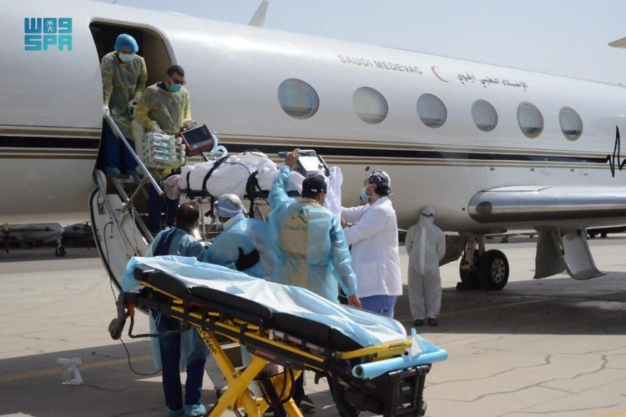 Saudi Arabia has evacuated a Saudi citizen infected with COVID-19 from Jordan, in cooperation with a specialized medical team from the Ministry of Health. (SPA)