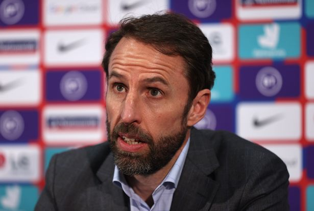 England manager Gareth Southgate announces his provisional squad for UEFA EURO 2020 at St Georges Park on May 25, 2021 in Burton-upon-Trent, England.