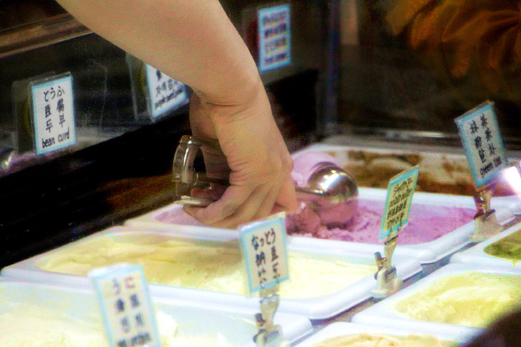 Ice cream is the must-have Japanese summer treat.