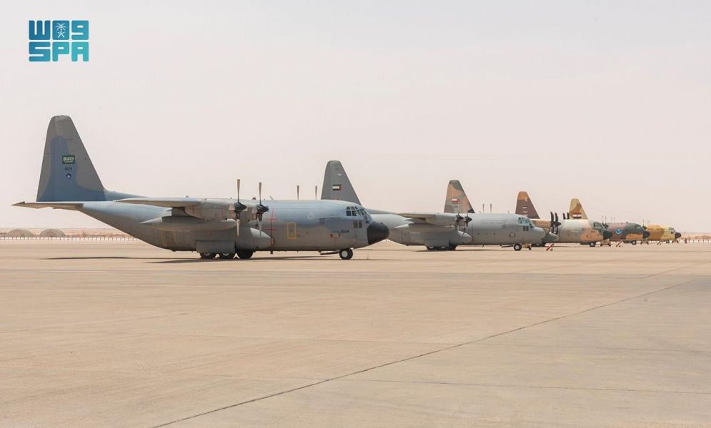 Saudi Arabia launched Tuwaiq 2 multinational joint air exercise at Prince Sultan Air Base. (SPA)
