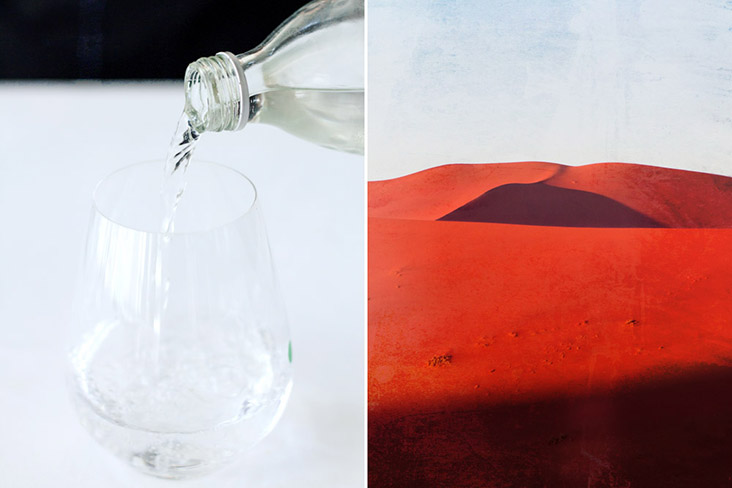 Habit #2: Drink water... or else be as parched as the desert.