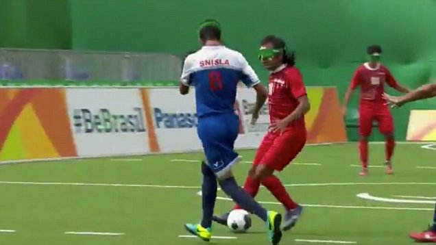 Amazing goal in the Paralympics football