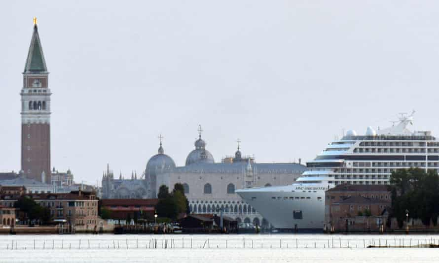 The MSC Orchestra cruise ship in Venice