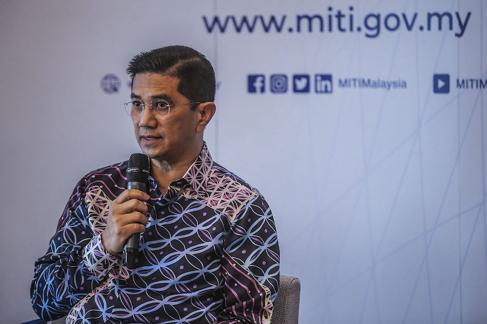 Senior Minister Datuk Seri Mohamed Azmin Ali, who is also Miti minister, said the reopening of the manufacturing sector was driven by the need for the national economy to remain competitive by ensuring that the supply chain is not disrupted and investments are not affected. — Photo by Hari Anggara