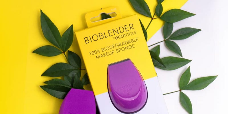 The BioBlender is a compostable makeup sponge that can naturally degrade in 180 days. — Picture courtesy of EcoTools