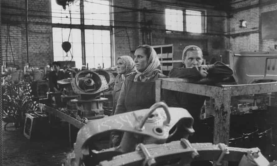 Women working in a Minsk tractor factory, 1963.