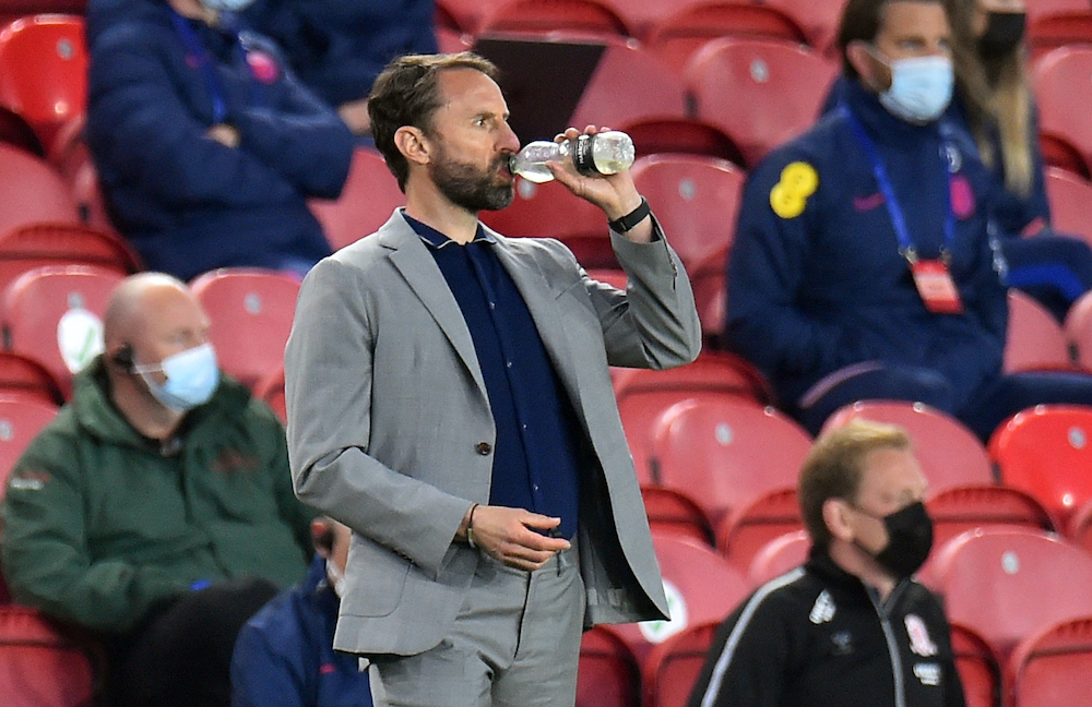 England manager Gareth Southgate during England's  friendly match against Austria at the Riverside Stadium in Middlesbrough, June 2, 2021. ― Reuters pic