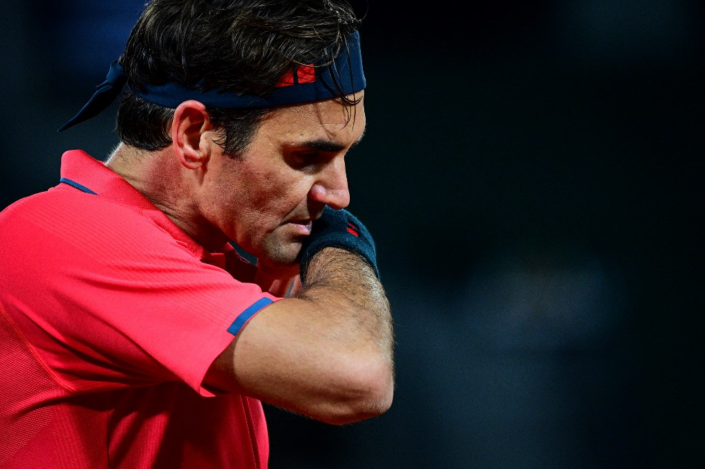 Switzerland's Roger Federer has hardly played in the last 17 months because of a knee injury. — AFP pic