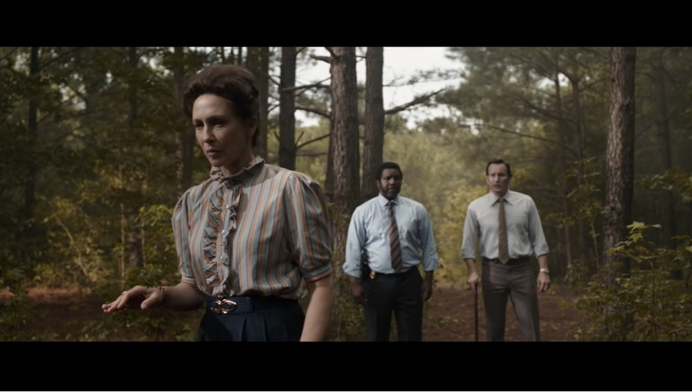'The Conjuring: The Devil Made Me Do It' again has Patrick Wilson and Vera Farmiga as paranormal investigators grappling with demonic nastiness. — Screen capture via YouTube/Warner Bros