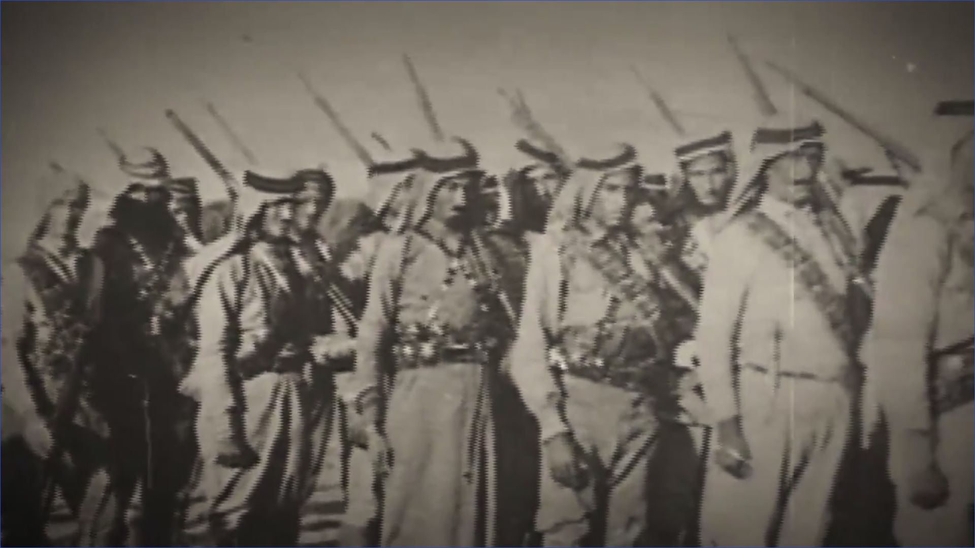 The film includes details of an Israeli battle, during which the Saudi army stormed a trench and fought Israeli forces. (Screenshot)