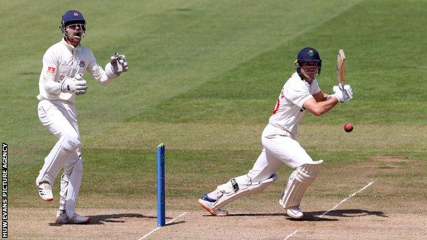 Marnus Labuschagne's 63 for Glamorgan was the highest score by any player over the two innings