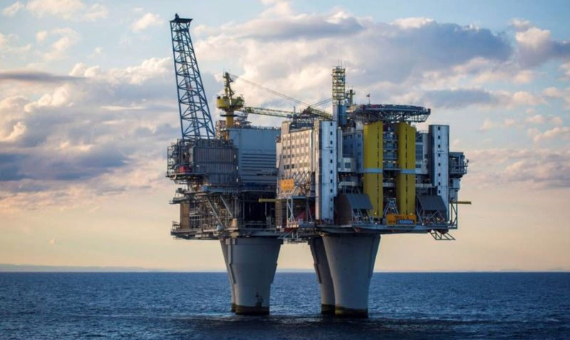 An oil platform is seen in the North Sea off Norway. — Reuters pic