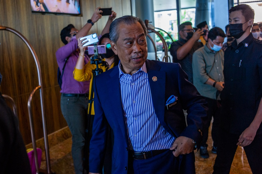 Muhyiddin also thanked all civil servants who have been directly or indirectly involved in handling the Covid-19 pandemic for more than a year now. — Picture by Shafwan Zaidon