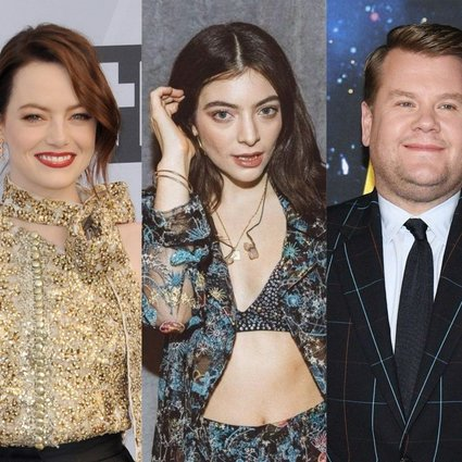Emma Stone, Lorde, James Corden and John Cena are all K-pop fans. Photos: Shutterstock, @wisteriagrown/Twitter, AFP, ABImages