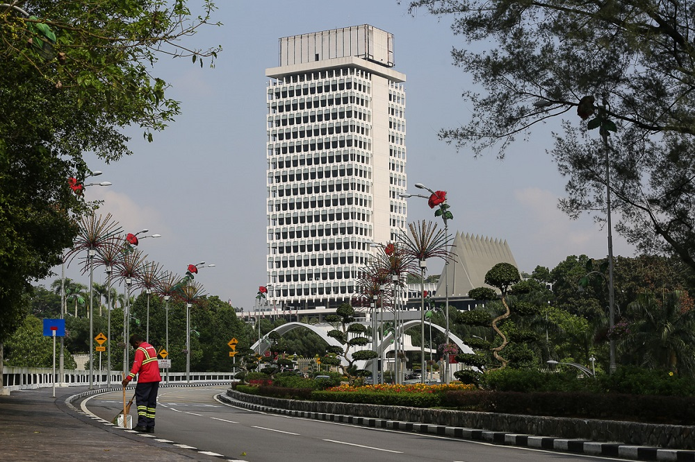 A view of the Parliament building in Kuala Lumpur March 19, 2021. ― Picture by Yusof Mat Isa