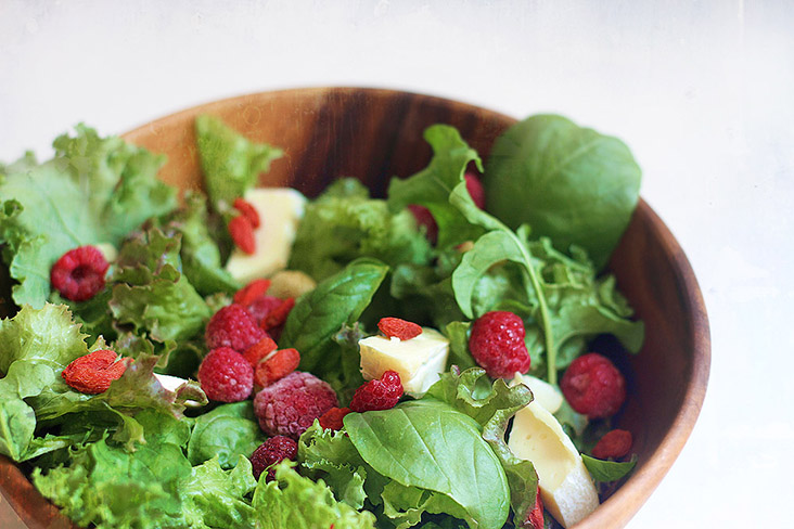 Enjoy this summer salad as a starter or bulk it up with some protein to make it a main dish.