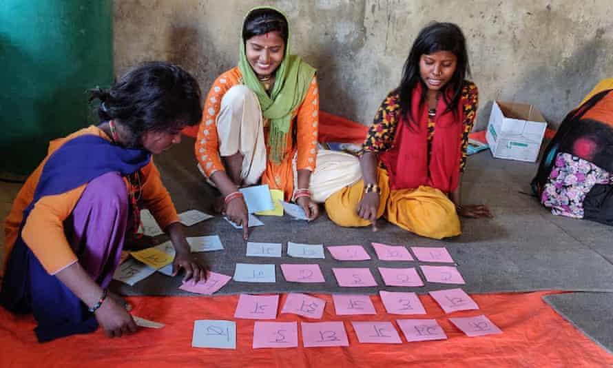 Girls at school in Nepal
