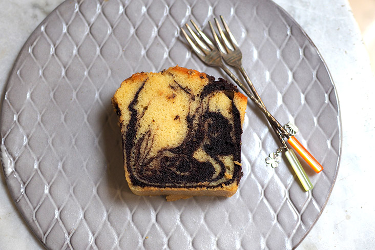 Indulge a little with their moist marble butter loaf slice.