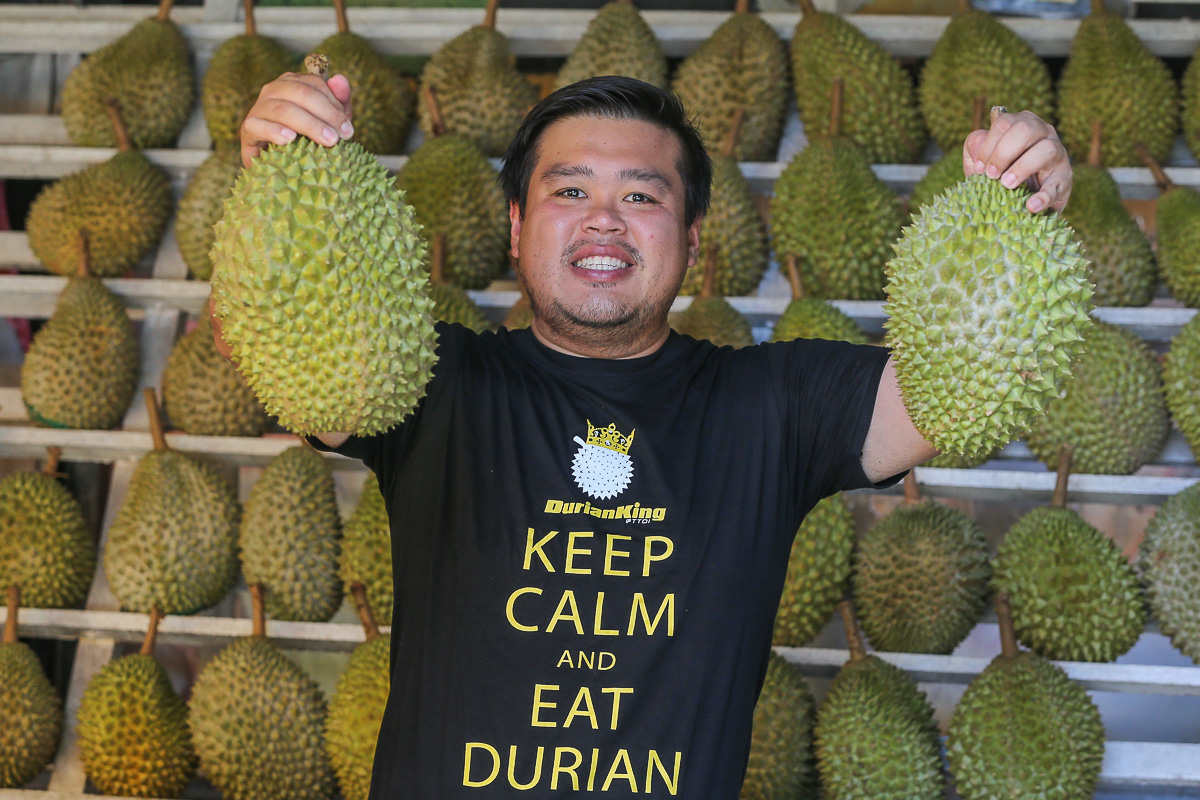 Ong regularly hosts livestreams on Durian King's Facebook to promote his products. — Picture by Yusof Mat Isa
