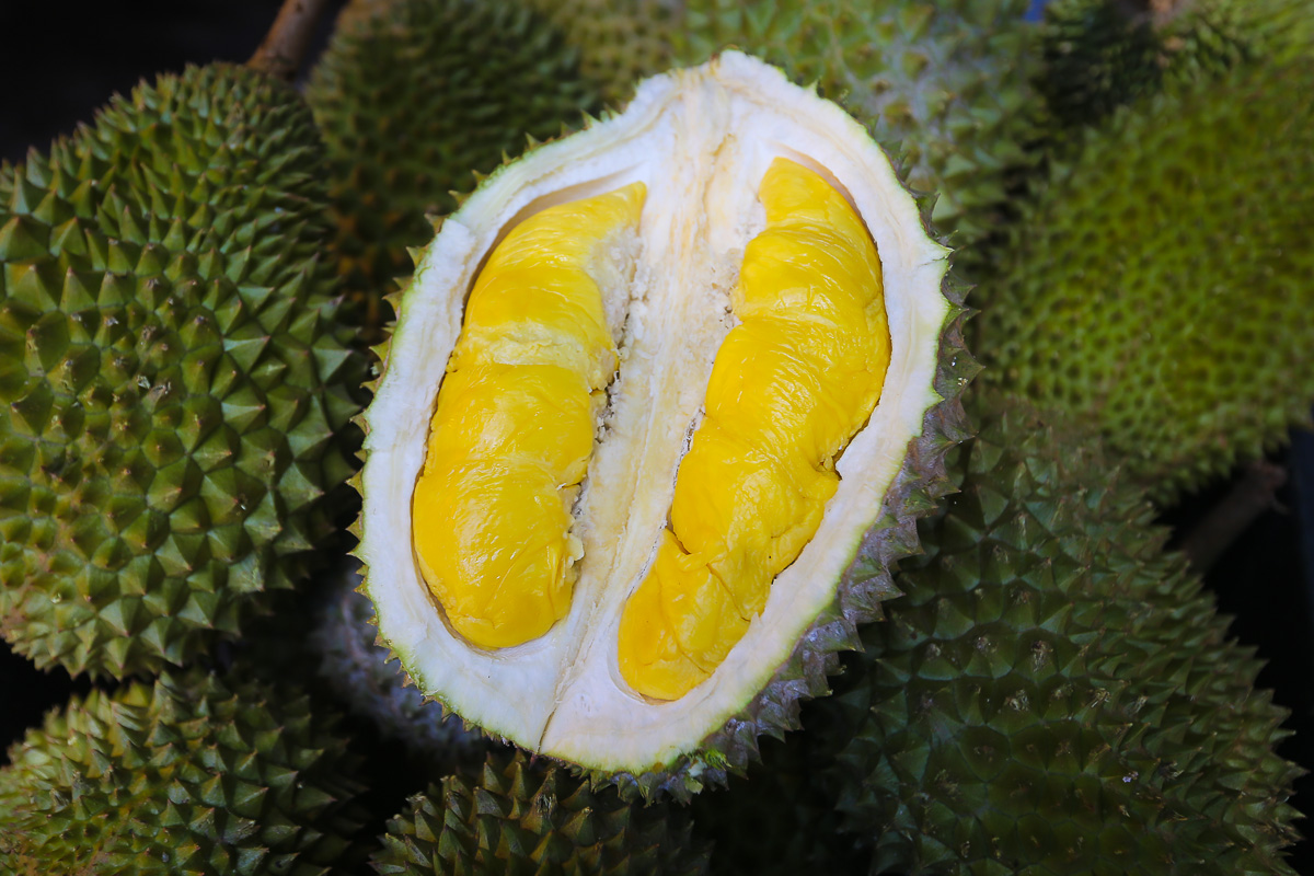 The creamy flesh of the durian is best enjoyed fresh but lockdowns have made it harder for sellers to clear their stock on time. — Picture by Yusof Mat Isa