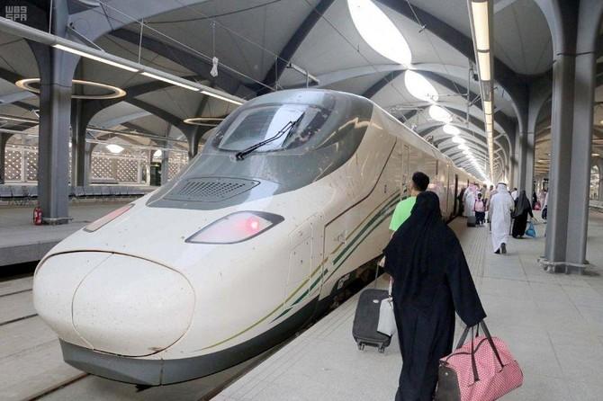 Saudi Arabia's new Haramain High-Speed Railway cuts short the travel time for pilgrims traveling between Makkah and Madinah. (SPA)